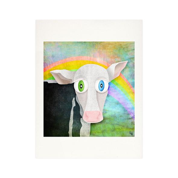 """The Cow Who Freed Himself"" Fine Art Print"
