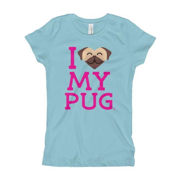 """""""I Love My Pug"""" Girl's T-Shirt"""