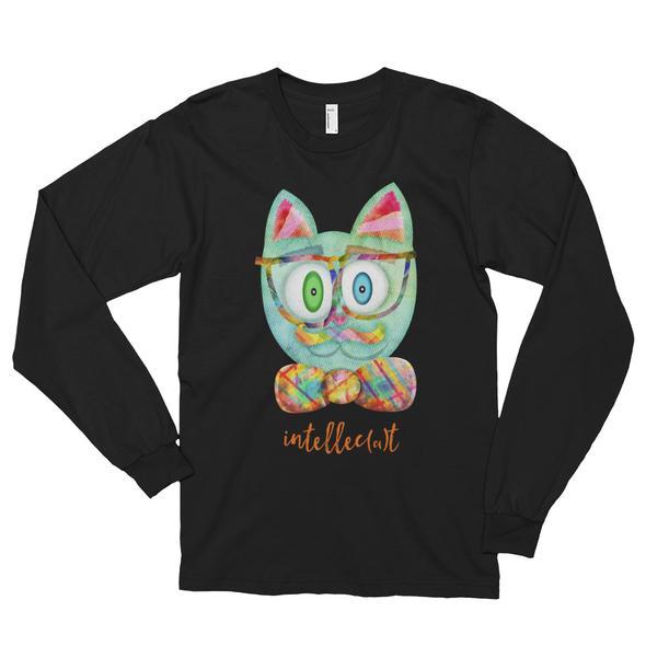 """""""Intellecat"""" Unisex Long Sleeve T-Shirt"""