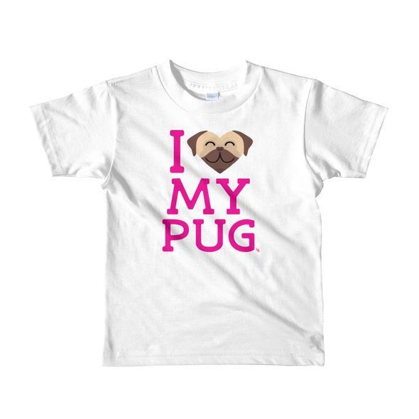 """I Love My Pug"" Little Kids T-Shirt"