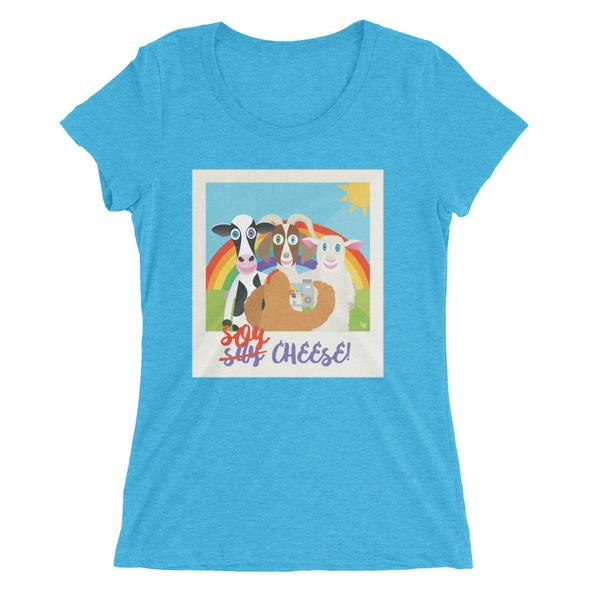 """""""Soy Cheese"""" Women's Fitted T-Shirt"""