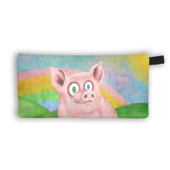 """Happy Pig"" Zipper Pouch"