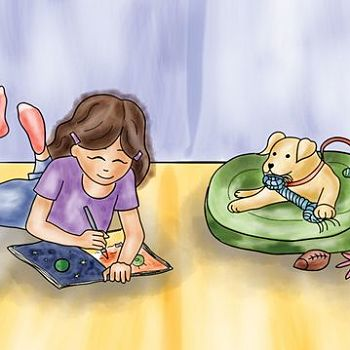 Illustration 19 from JJ Goes to Puppy Class - Digital Illustration