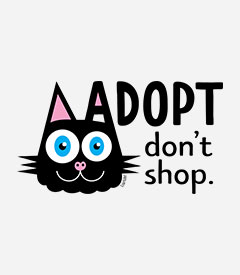 Adopt, Don't Shop - Cat Ear