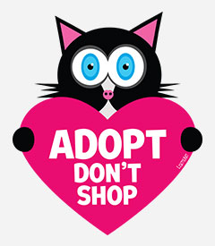 Adopt, Don't Shop - Cat with Heart