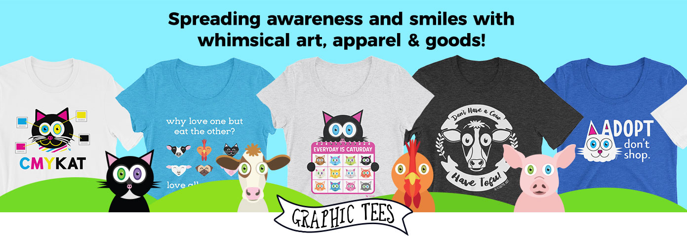 Whimsical Graphic Tees for Animal Lovers and Children at Heart