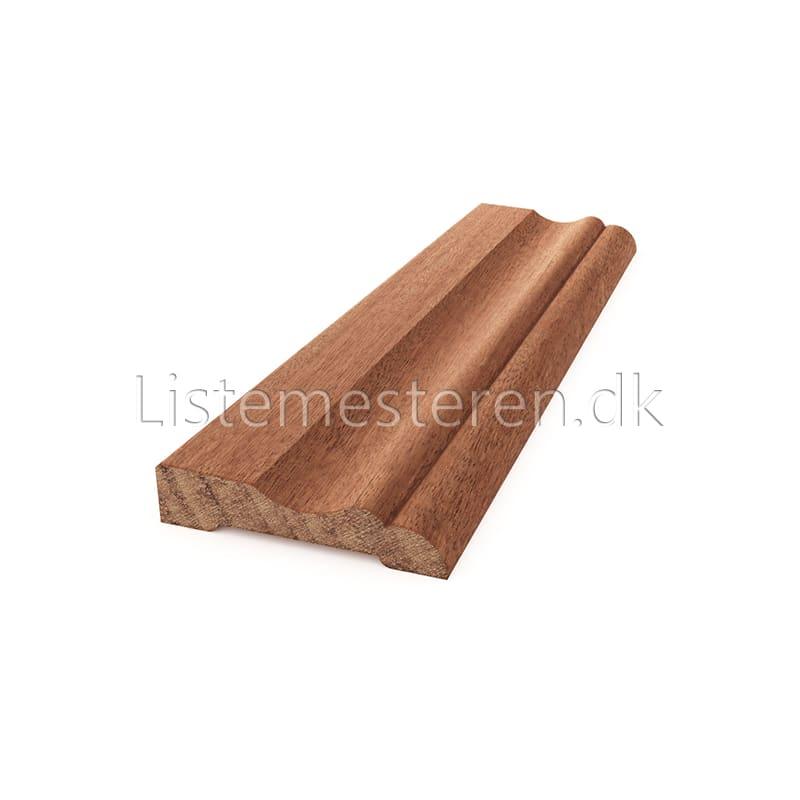 Fodlister/indfatninger mahogni 15 x 68 mm