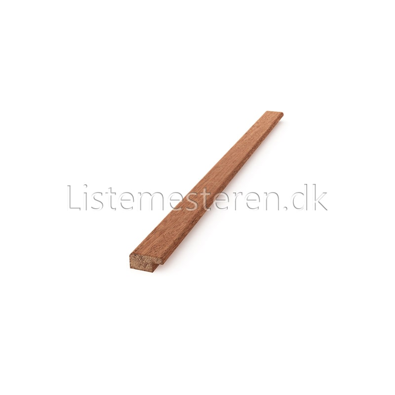 Falslister mahogni 8 x 16 mm