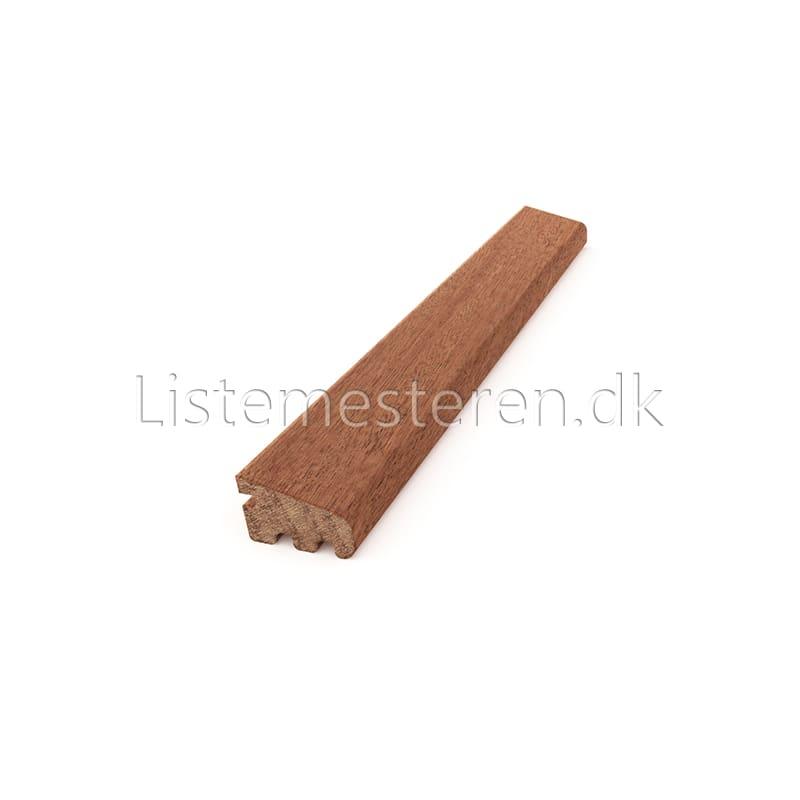 Glaslister mahogni 15,5 x 28 mm