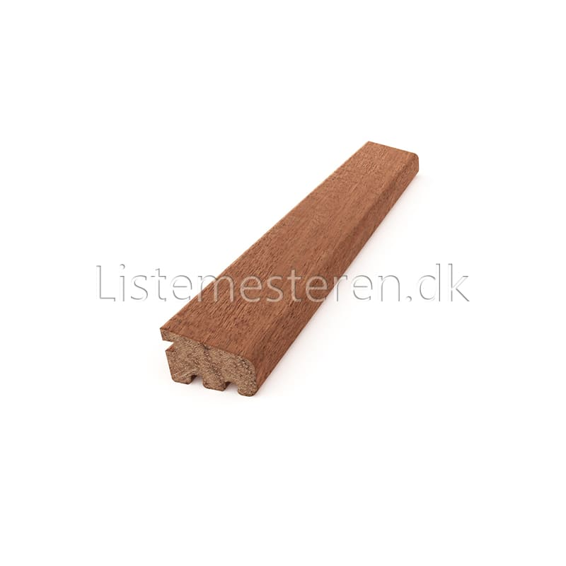 Glaslister mahogni 18 x 32 mm
