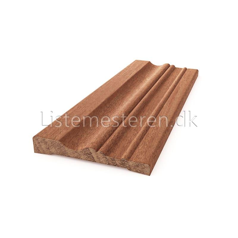 Fodlister/indfatninger mahogni 15 x 92 mm