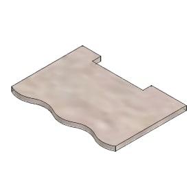 Bagplade Vermiculite 242x145x10 mm CADEL