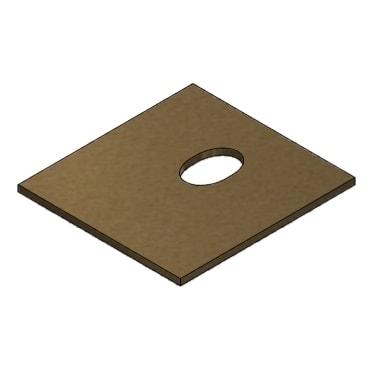 Bagplade Vermiculite 280x260x10mm CADEL