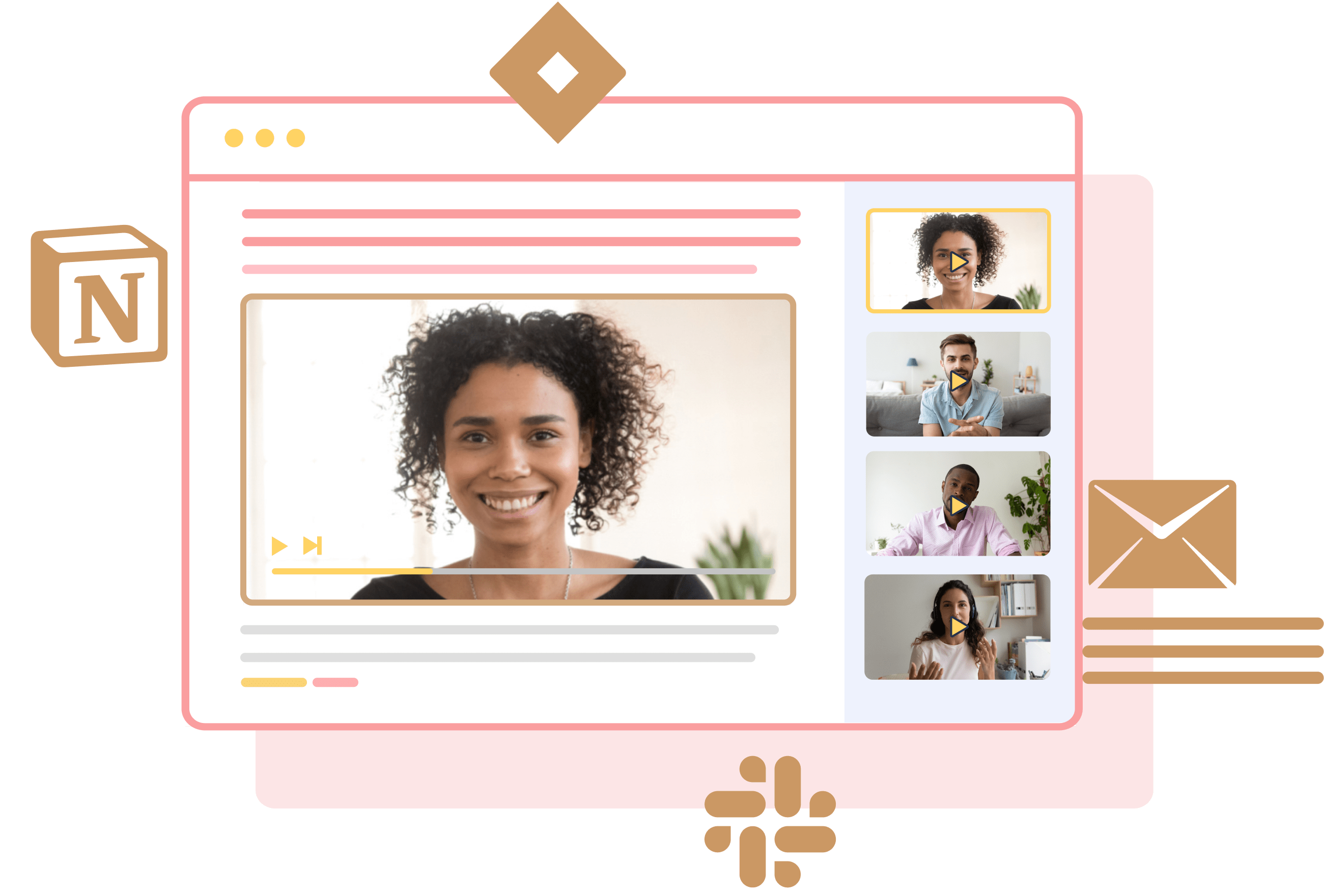 Share customer stories within minutes