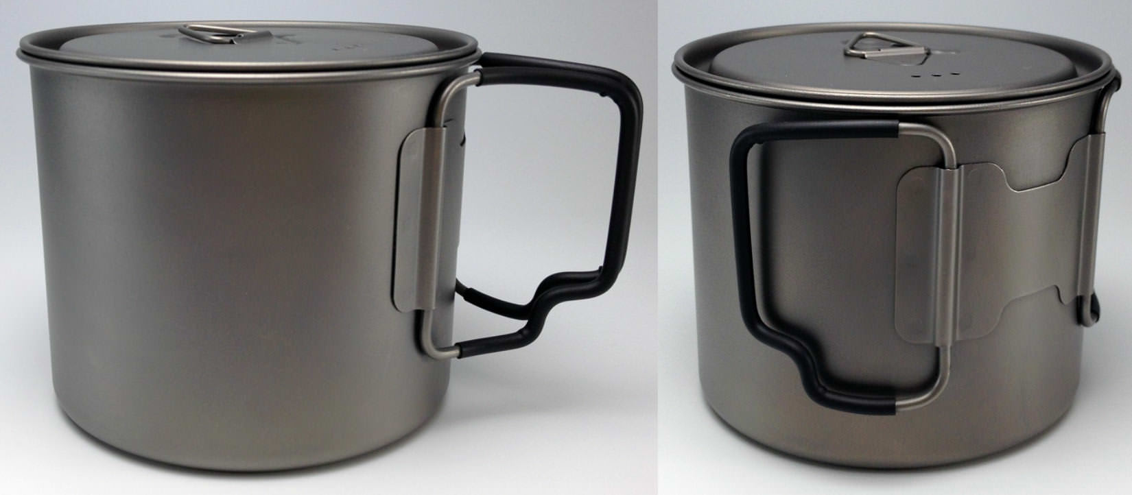 Titanium Cookpot with Lid 550 mL