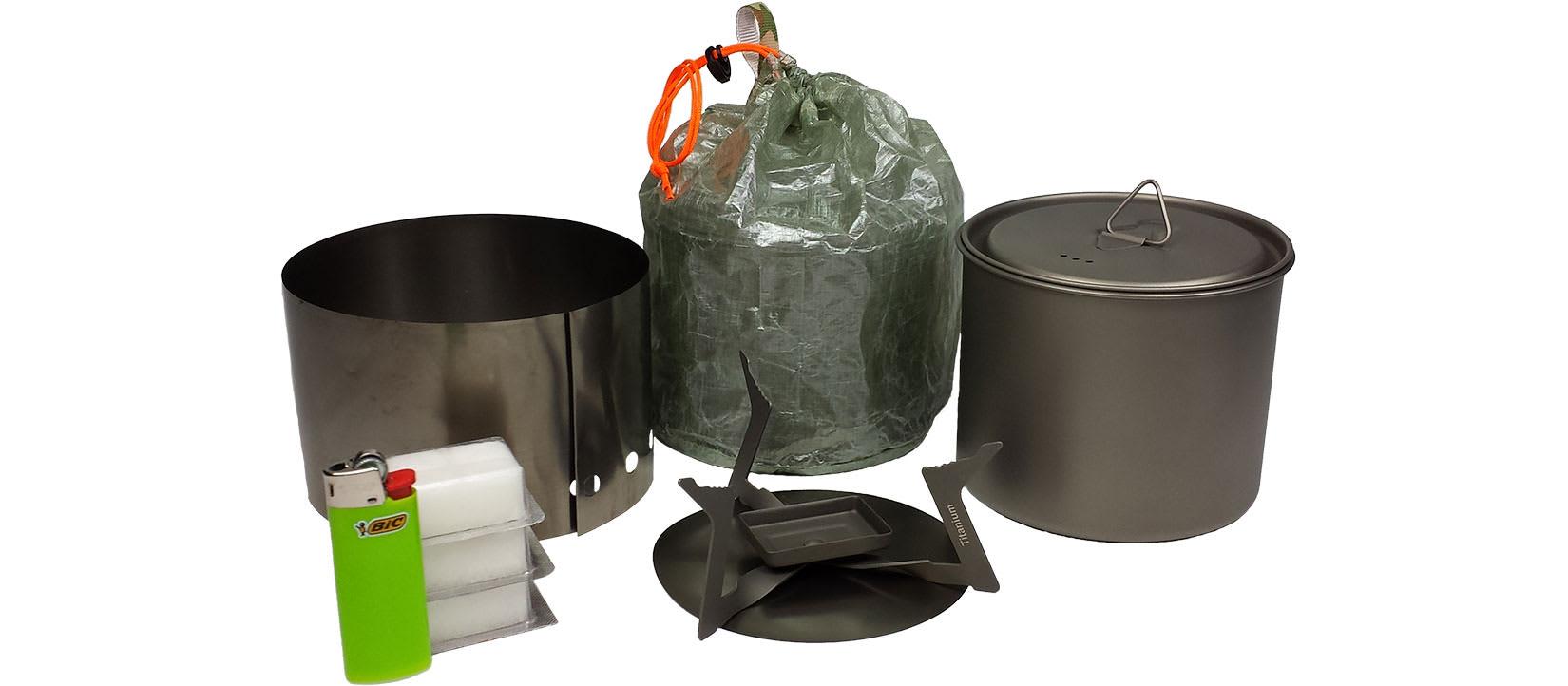 Titanium Solid Fuel Cook System