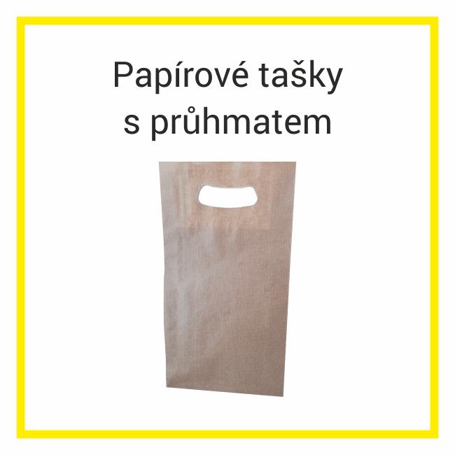 papírové tašky s průhmatem