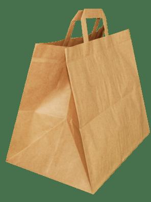 papírová taška hnědá na menubox, ploché ucho