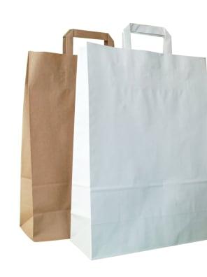papírové tašky - ploché ucho