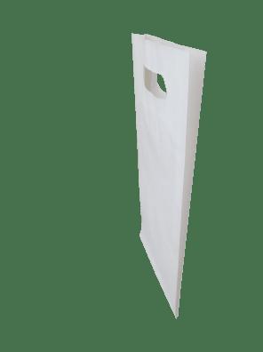 papírová taška bílá s průhmatem