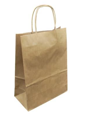 papírová taška hnědá, hnědé kroucené ucho
