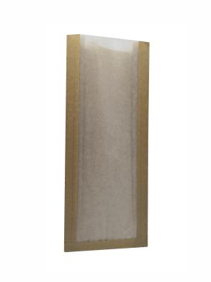 papírový sáček hnědý s pergaminovým oknem