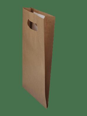 papírová taška hnědá s průhmatem