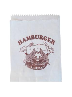 papírový sáček na hamburger, jednobarevný tisk