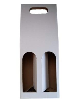 bílý karton na 2 láhve vína