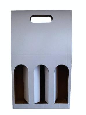 bílý karton na 3 láhve vína