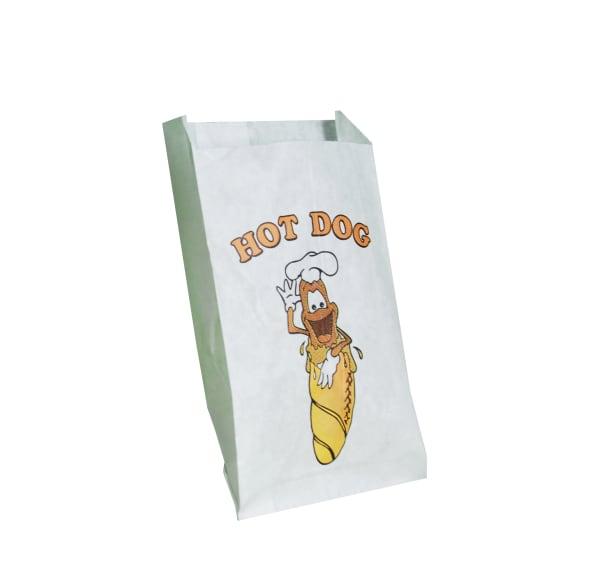 papírový sáček na párek v rohlíku bílý