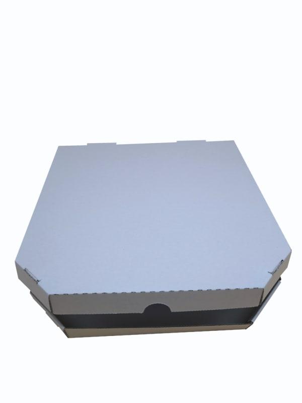 pizza krabice bílá 320x320x30mm / 400x400xx30mm