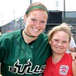two softball girls