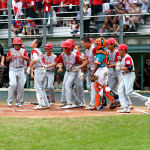 japan team celebrates