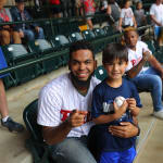 phillies player and fan smiling