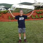 boy holding cardboard llbws