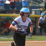 softball player running