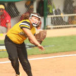 softball player throwing ball llsbws