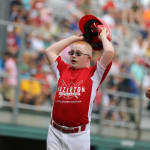 challenger game - player celebrating at homeplate