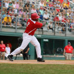 challenger game - player swinging bat
