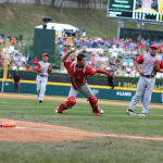japan catcher throwing ball