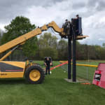 DeMotte LL scoreboards going up