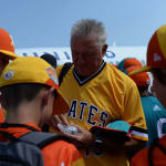 Clint Hurdle handing out pins to Southwest players