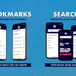 rulebook app bookmarks and search