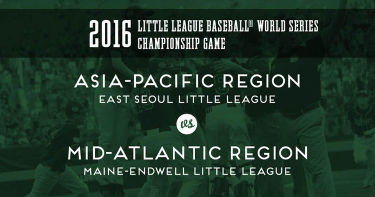 2016 Little League Baseball® World Series Championship ...