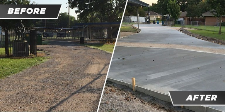 little league field before and after updates