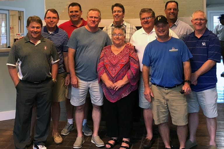 South Lexington Little League enjoys their 40-year Reunion with the wife of the team's late coach