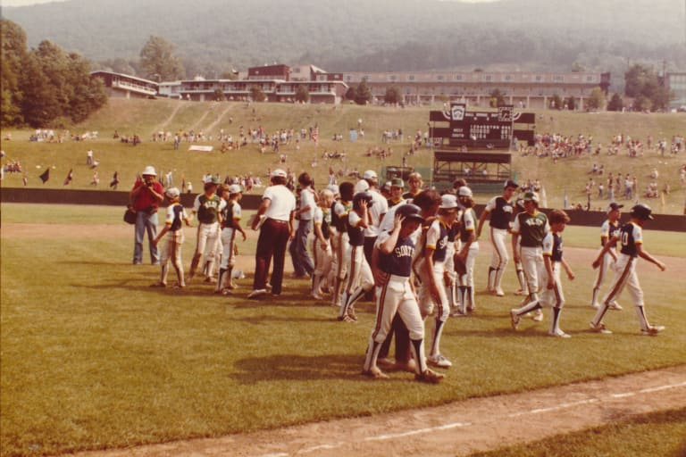 South Lexington (Ky.) Little League celebrates after a win at the 1978 LLBWS.