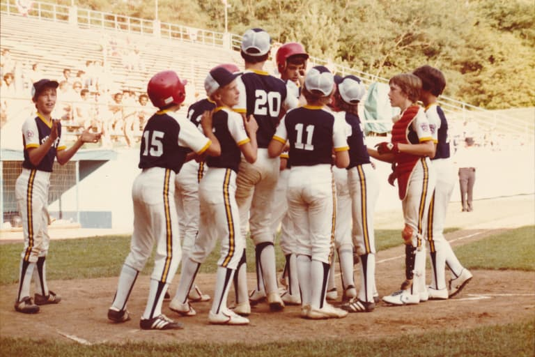 South Lexington (Ky.) Little League celebrates at the plate during the 1978 LLBWS