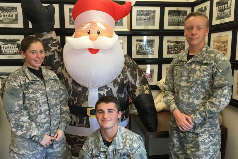 west 2018 christmas party military and santa